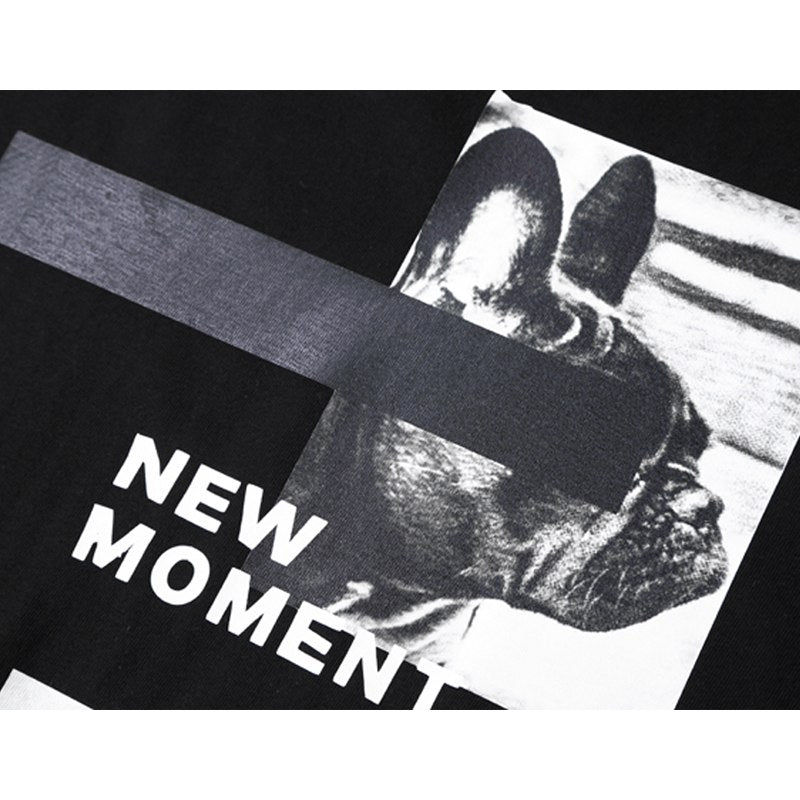 "Shirt mit Aufdruck: ""The Past"" und ""New Moment"""