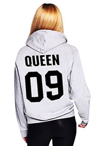King and Queen Hoodie für Paare