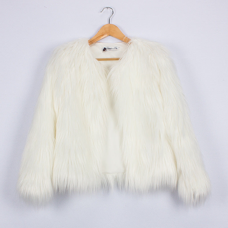 Flauschige Winterjacke