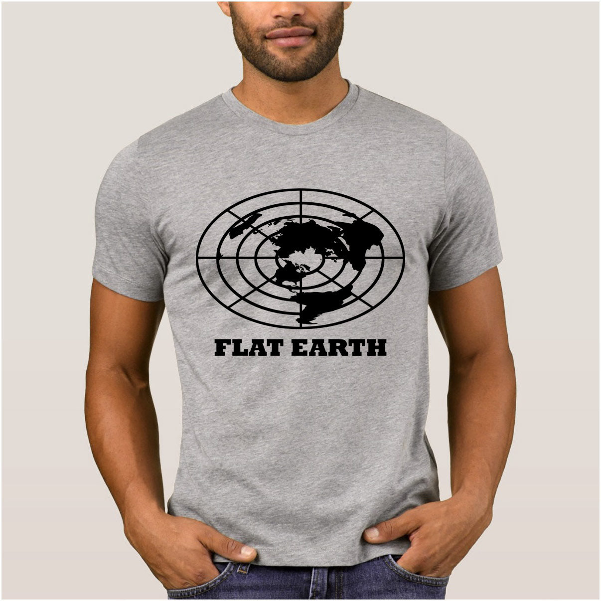 """Flat Earth"" T-Shirt"