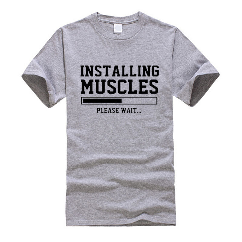 """INSTALLATION MUSCLES"" funny t-Shirts"
