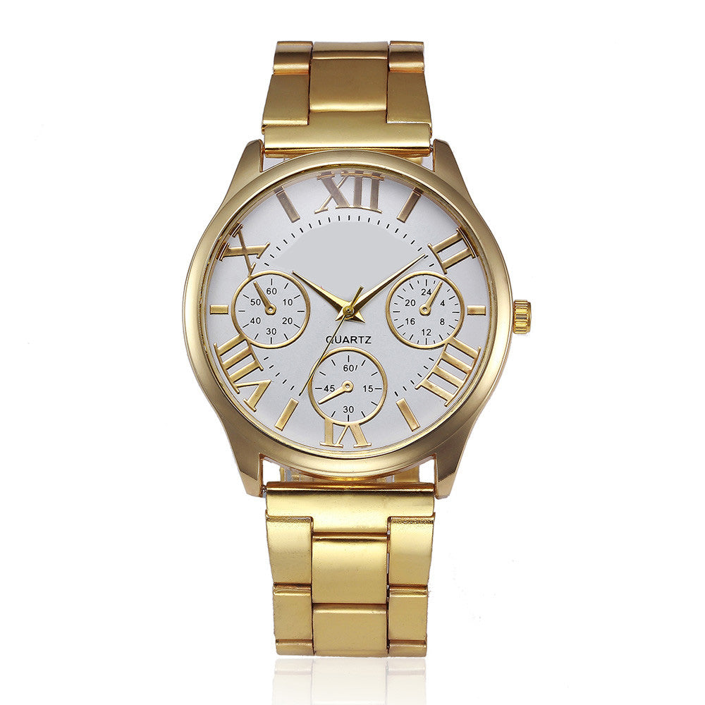 Gold Watch Quartz