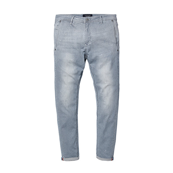 Gestreifte Slim Fit Denim