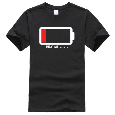 """Help me"" T-Shirt Low Batterie"