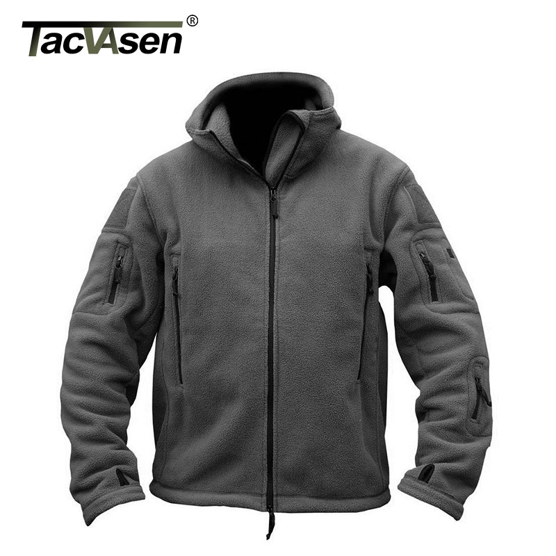 Thermo Fleecejacke mit Kapuze