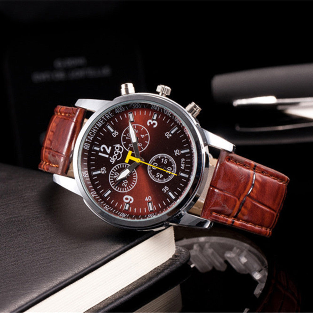 Luxury Brand Watch with Crocodile Leather