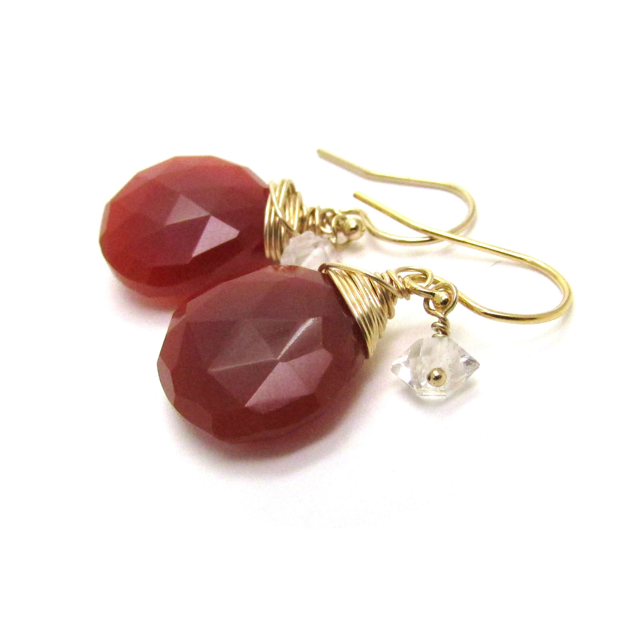 jewelry cartier carnelian yellow earrings gold diamond and