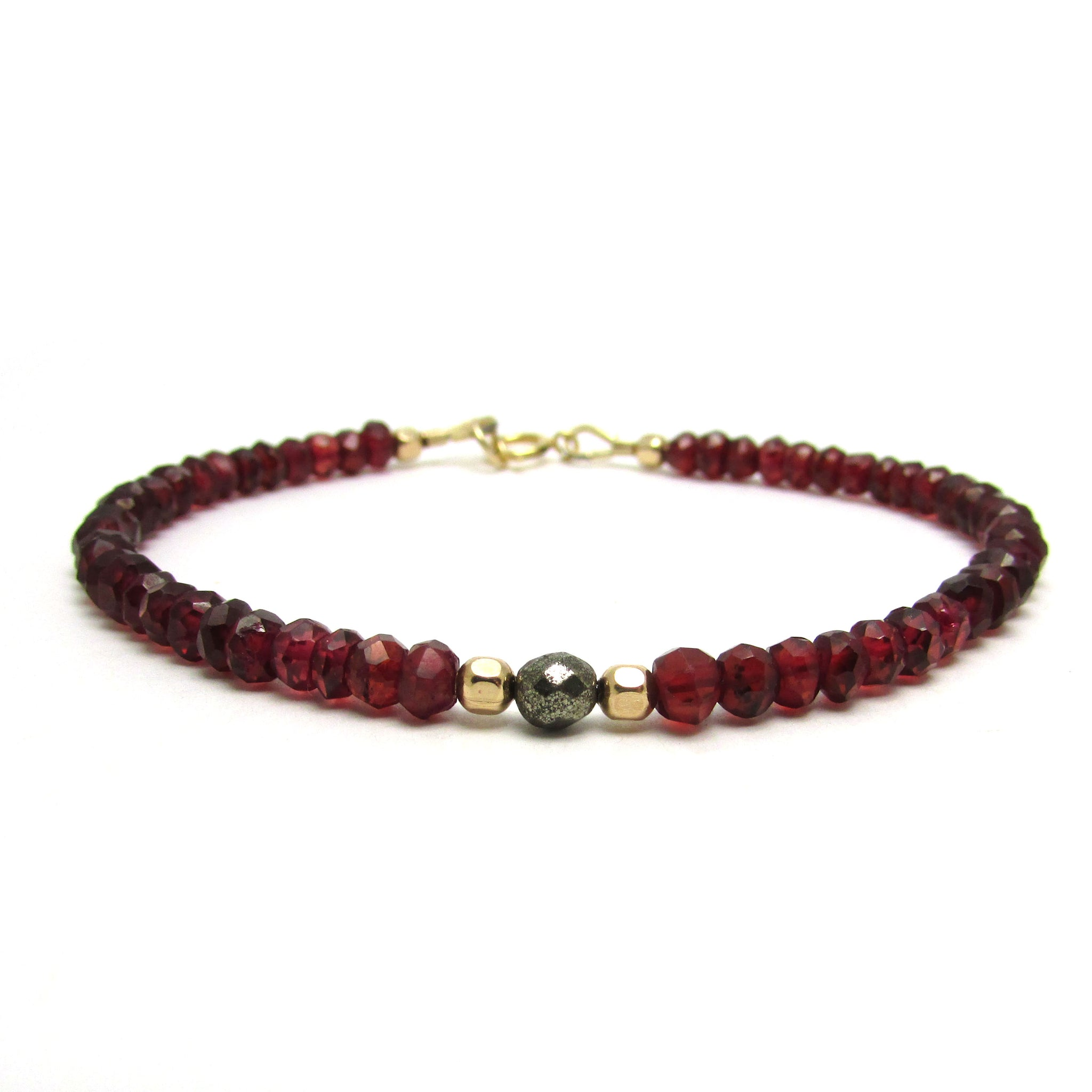 product garnet stackable lotus with bracelet clearquartz quartz clear stack red side