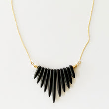 NAYLA black howlite statement necklace