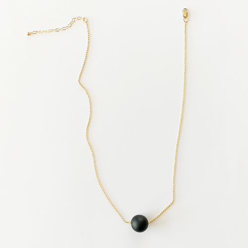 JACKIE black matte onyx necklace