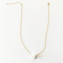 JACKIE white howlite stone necklace