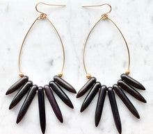 NAYLA black howlite statement earring