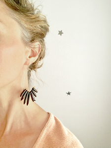 NAYLA black howlite statement earrings