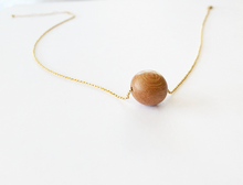 JACKIE rosewood bead necklace