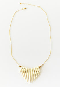 NAYLA white howlite statement spike necklace