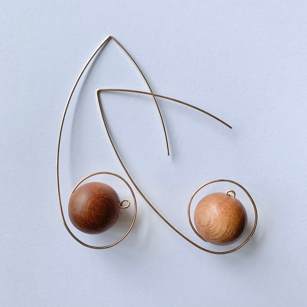 JACKIE loop earrings - rosewood