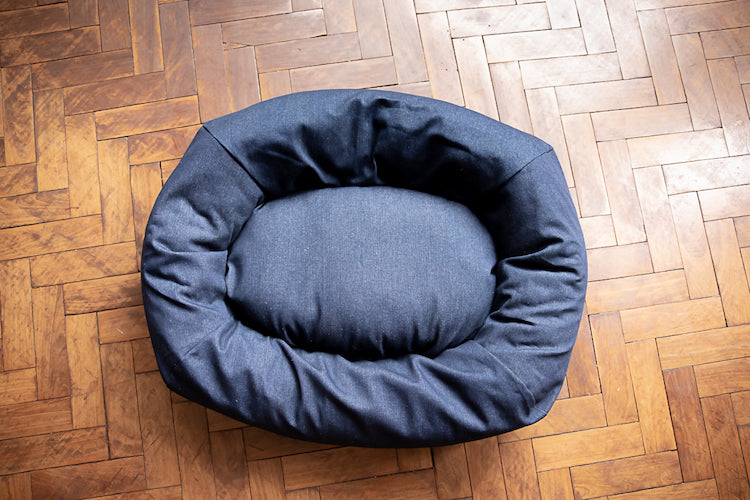 denim dog bed small size