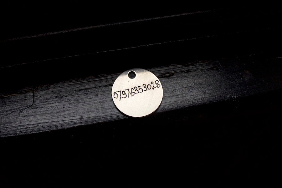 engraved dog tag ID