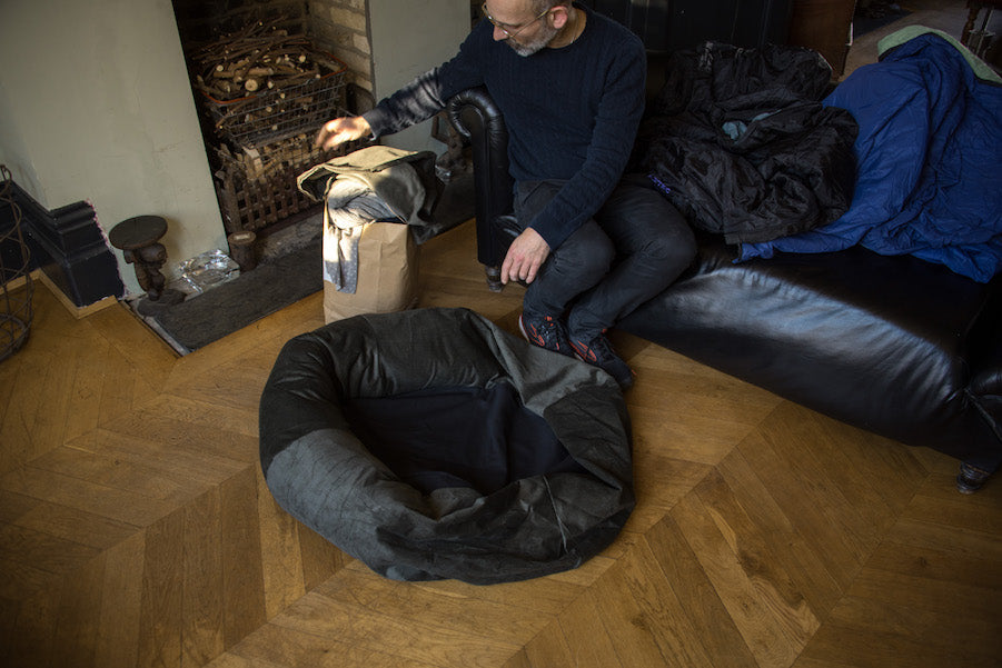 how to stuff a dog bed