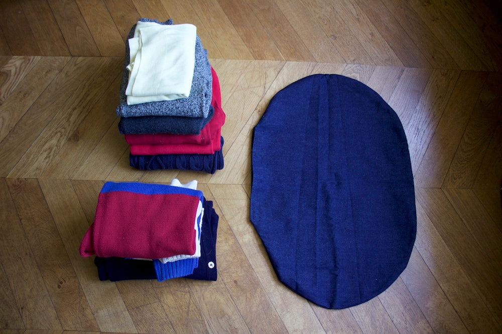 how to stuff a dog bed cushion