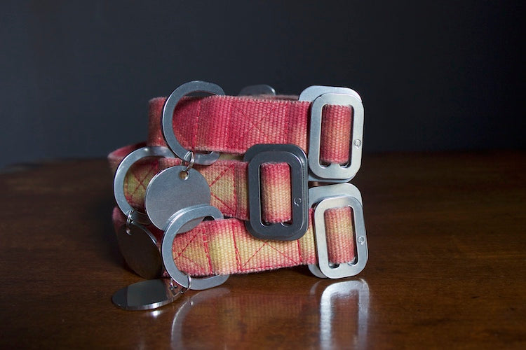 red tie dye collars