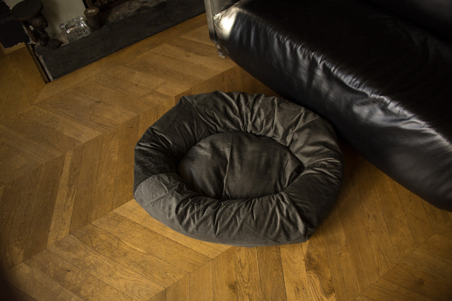 small green dog bed