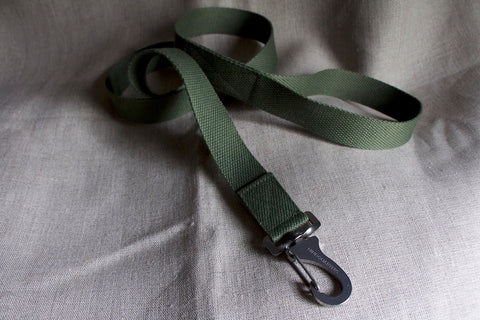 army green dog lead