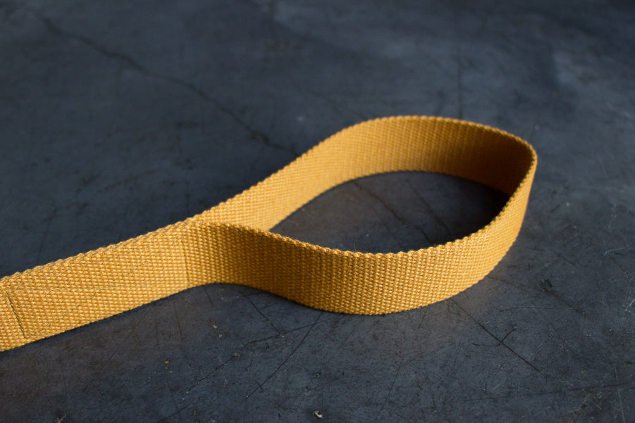 mustard dog lead with comfy handle