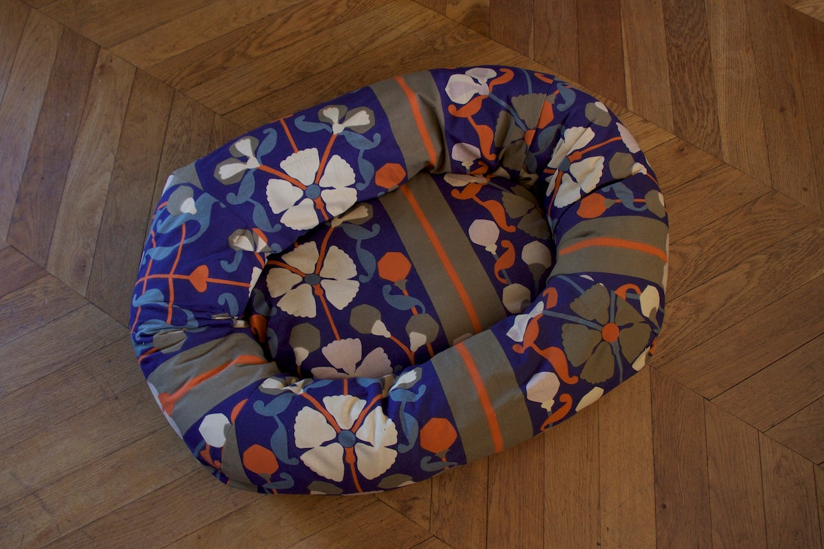floral comfy dog bed