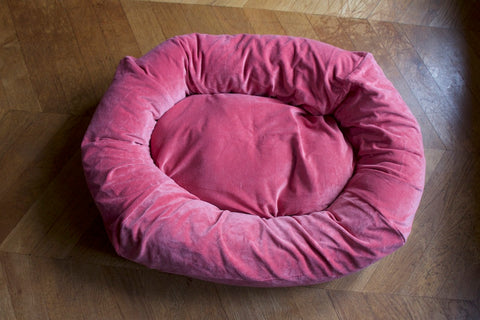 hot pink dog bed