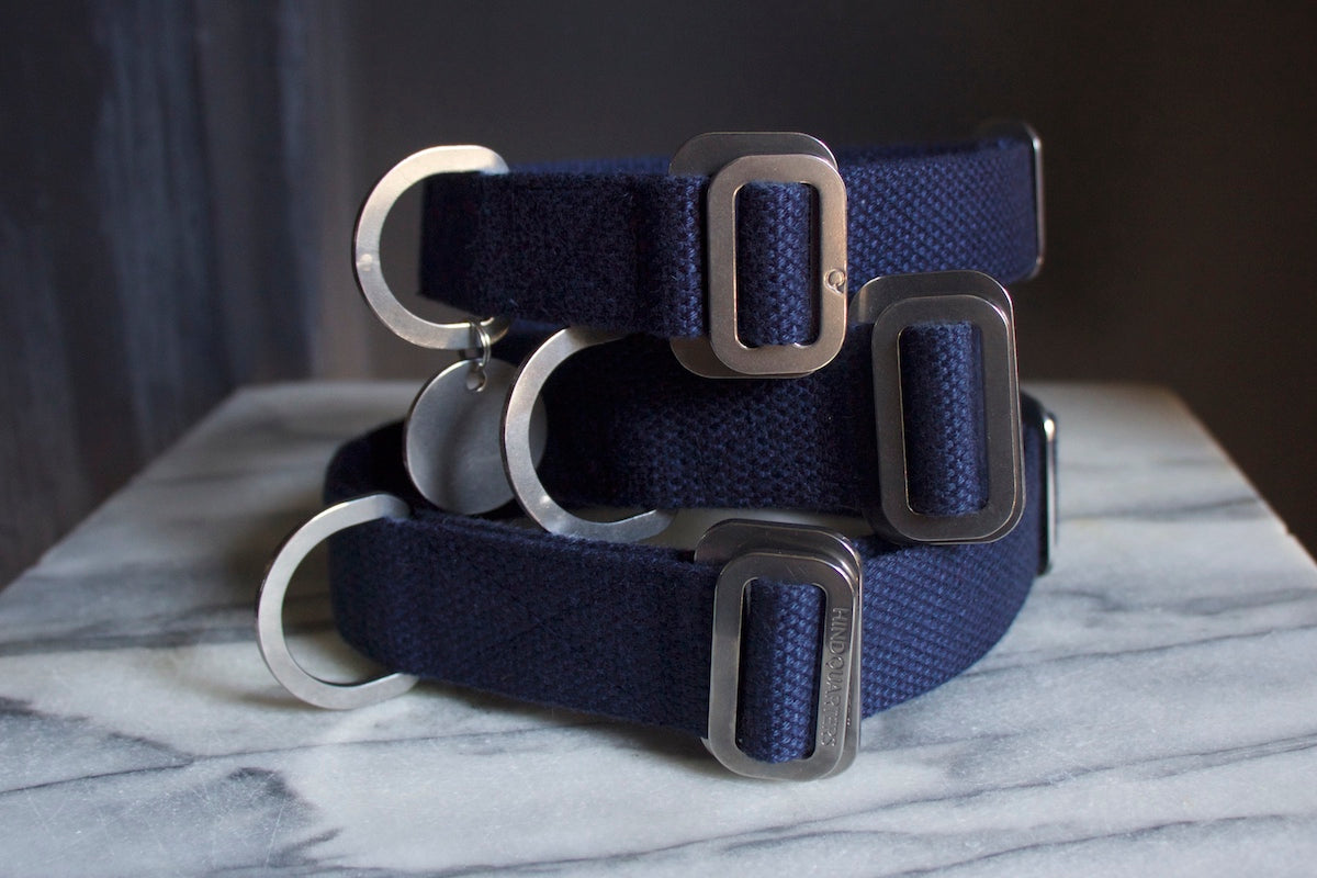 navy dog collars