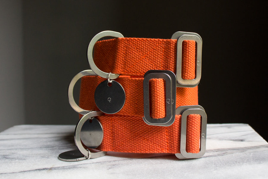 orange cotton dog collars