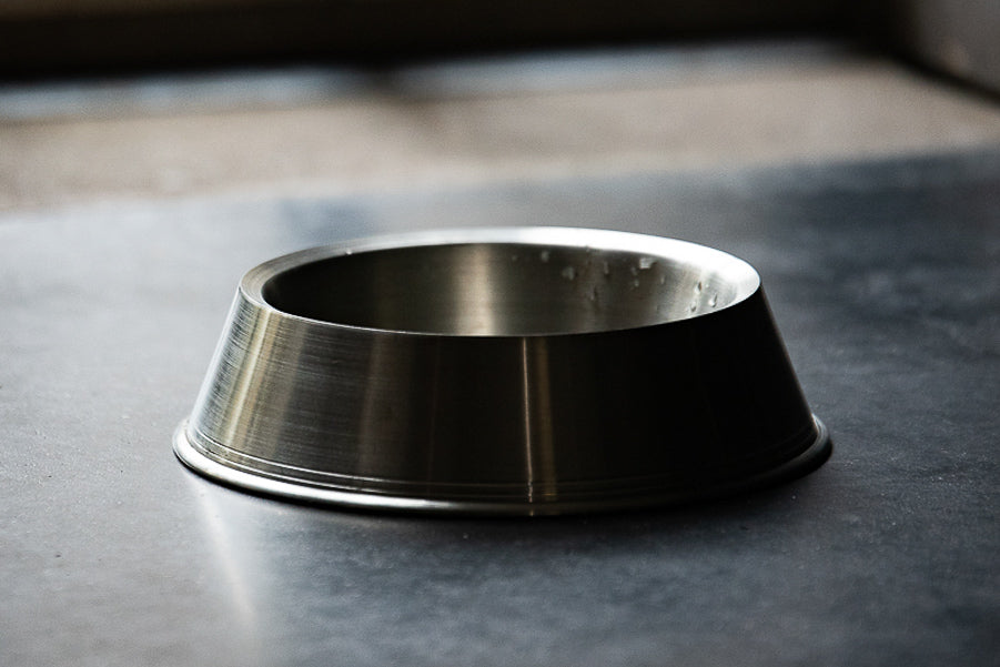 pewter dog bowl