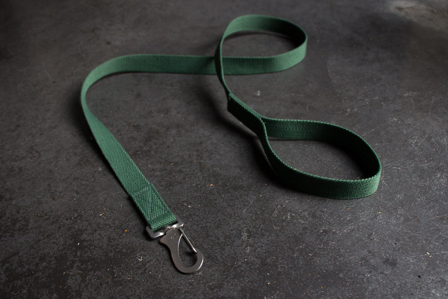 slim green dog lead
