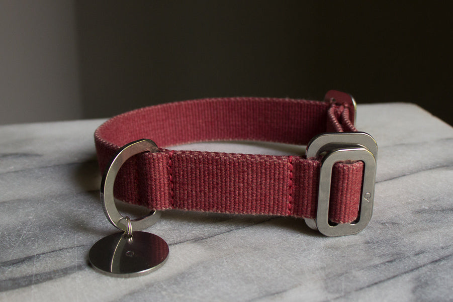 small washable red dog collar