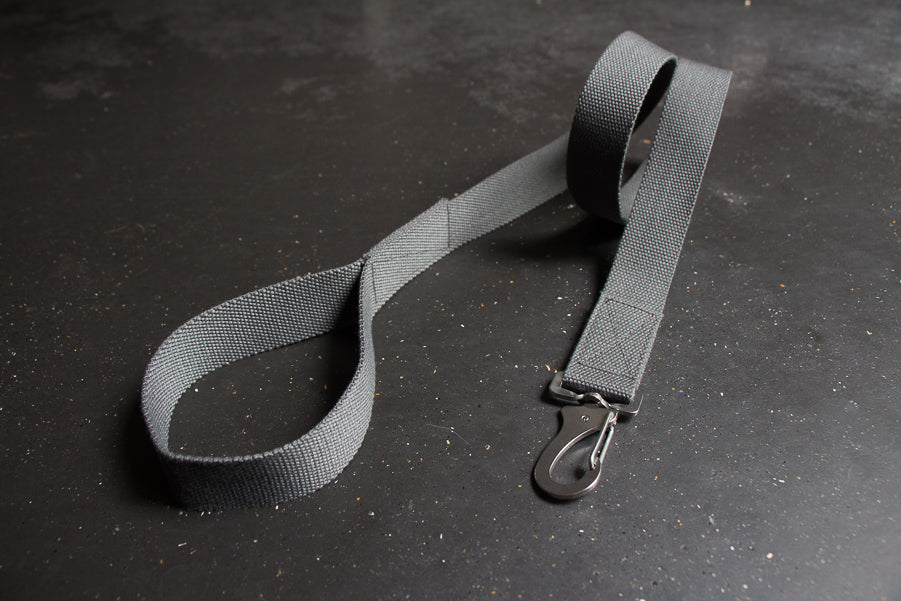 grey cotton fabric dog lead