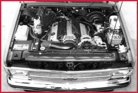 V8 swap done by GM wizard Scott Leon with nearly all GM parts, Stealth Conversions