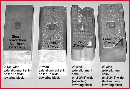 S10 Truck Pinion Alignment Shims (for all S-10s including 4-cylinder,  6-cylinder, and V8)