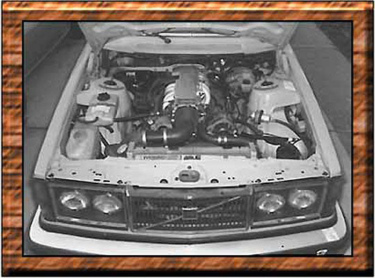 Volvo and V-8 Engine Volvo with 350 TPI