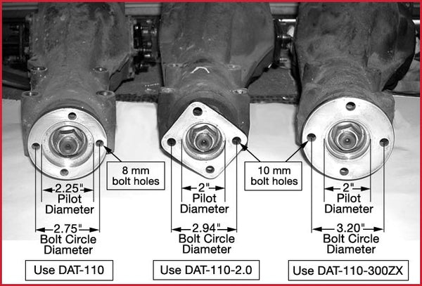 Choosing the correct driveshaft flanges, Datsun swap, Stealth Conversions