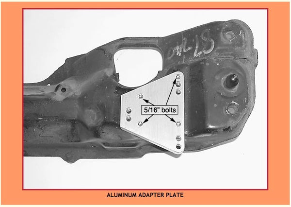 Volvo 700 aluminum adapter plate, Stealth Conversions