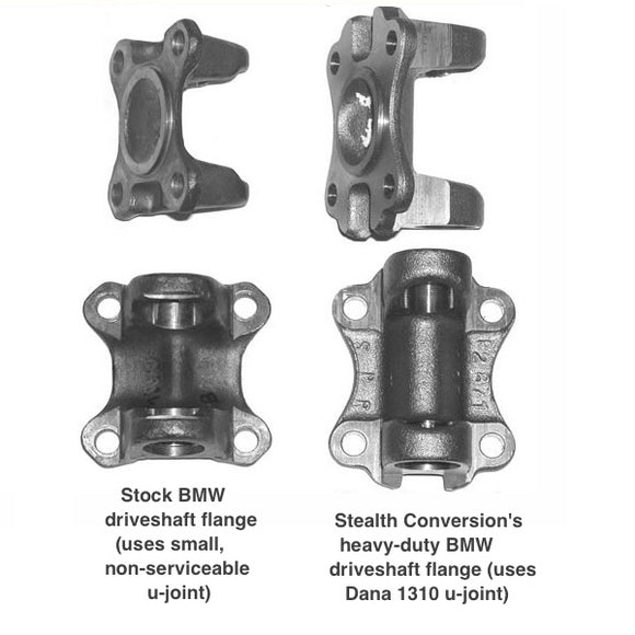 Heavy-duty driveshaft flange for BMW V8 engine swaps  - V8 Swaps by JTR Stealth