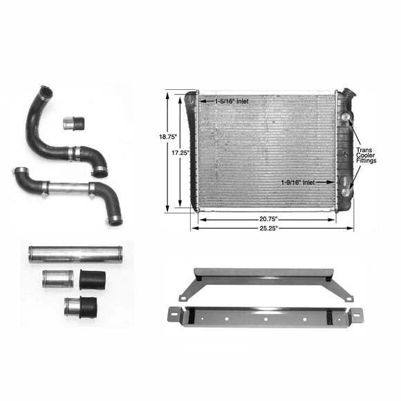Aluminum Radiator Kit, 1970-1978  Datsun 240Z/260Z/280Z Cooling Kit - V8 Swaps by JTR Stealth