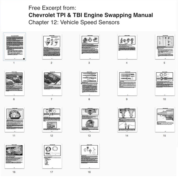 Free Excerpt Vehicle Speed Sensors from Chevrolet TPI & TBI Engine Swapping Downloadable Instructions - V8 Swaps by JTR Stealth