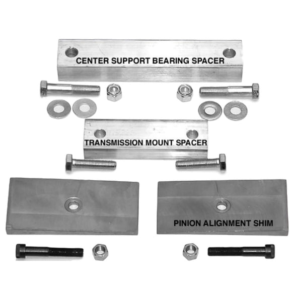 S10 2WD Extended Cab Driveshaft Alignment Kit for 4-cylinder, 6-cylinder, and V8 Driveshaft Alignment - V8 Swaps by JTR Stealth