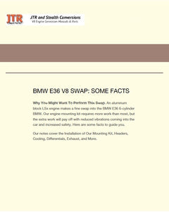 Free Download: Facts on the BMW E36 V8 Swap Downloadable Instructions - V8 Swaps by JTR Stealth
