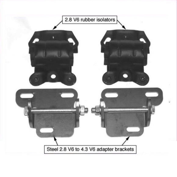 S-10 4.3 V6 High-Performance Replacement Mount Kit for 1988–2004 S-10 Trucks & Blazers Mounts - V8 Swaps by JTR Stealth