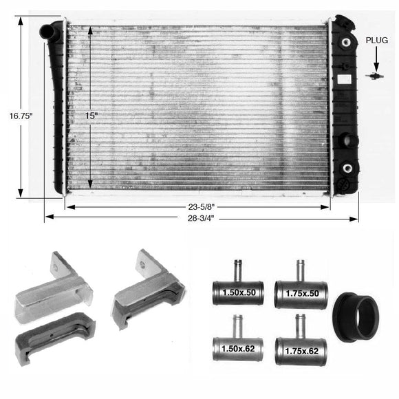 S10 V8 Radiator/Cooling Package Cooling Kit - V8 Swaps by JTR Stealth