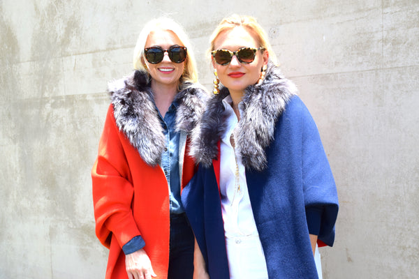 C&B Furs Game Day Red & Blue Shawls