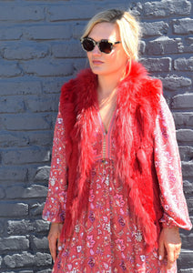 C&B Furs Rex Red Rabbit Fur Finland Fox Vest